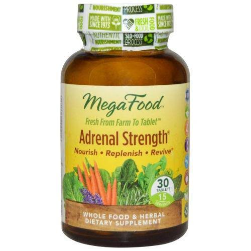 MegaFood Adrenal Strength Vegetarian Dietary Supplement - 30 Tablets
