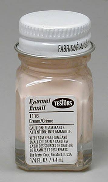 Testors Model Enamel Paint - 1116 Cream, 1/4oz