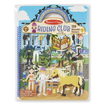 Melissa & Doug Puffy Sticker Activity Book Riding Club
