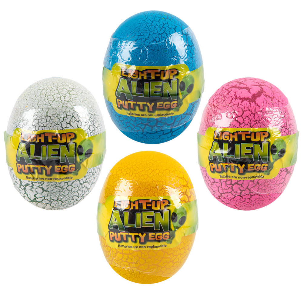 "Adventure Planet 3"" Light Up Alien Egg Putty"