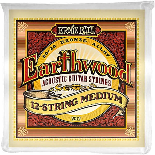 Ernie Ball Earthwood 12 String Bronze Alloy Guitar Strings - Medium