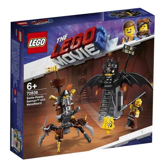 The Lego 70836 Movie 2 Toy - Battle-Ready Batman and MetalBeard