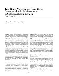 tour based microsimulation of urban commercial vehicle movements