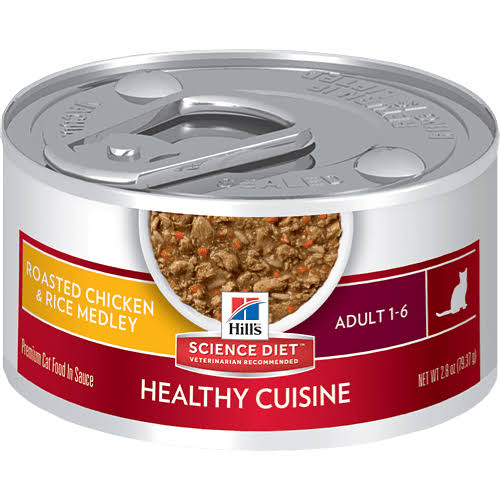 Hill's Science Healthy Cuisine Cat Food - Chicken & Rice Medley, 79.37g