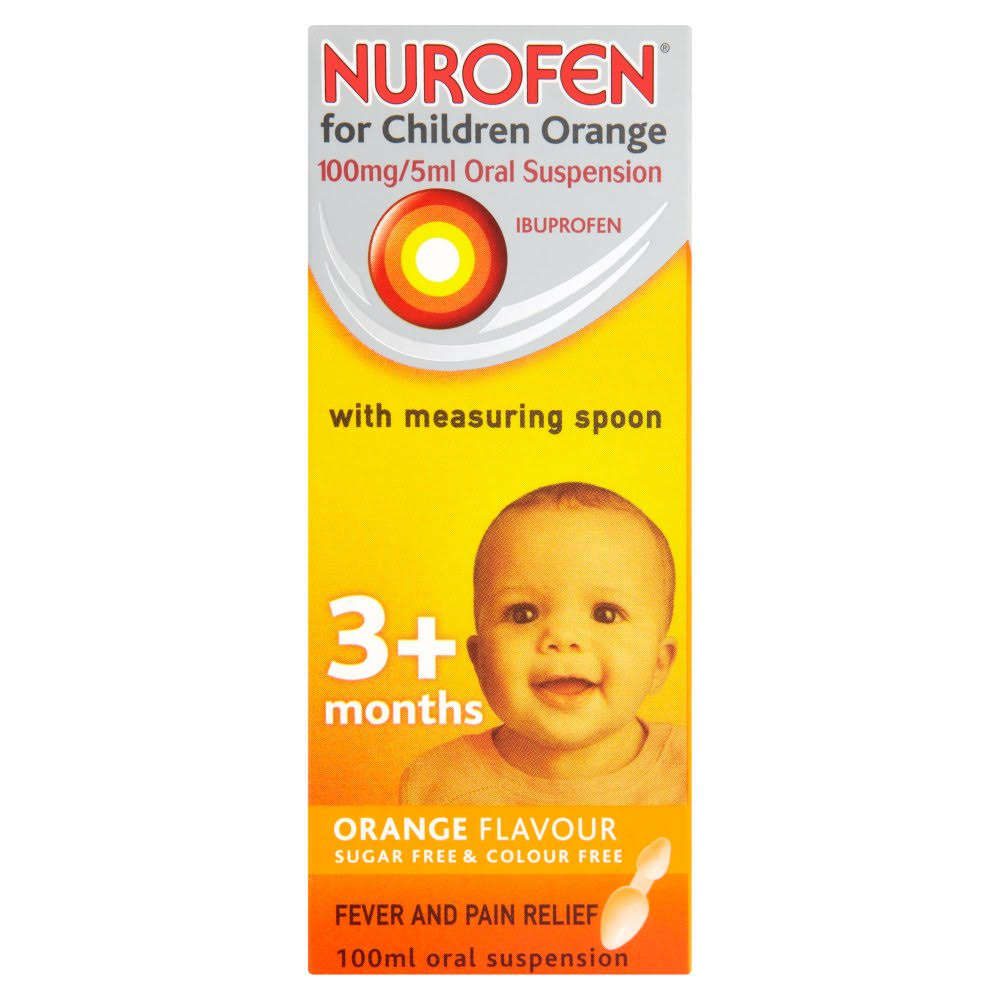 Nurofen for Children Oral Suspension Orange Flavour 3+ Months