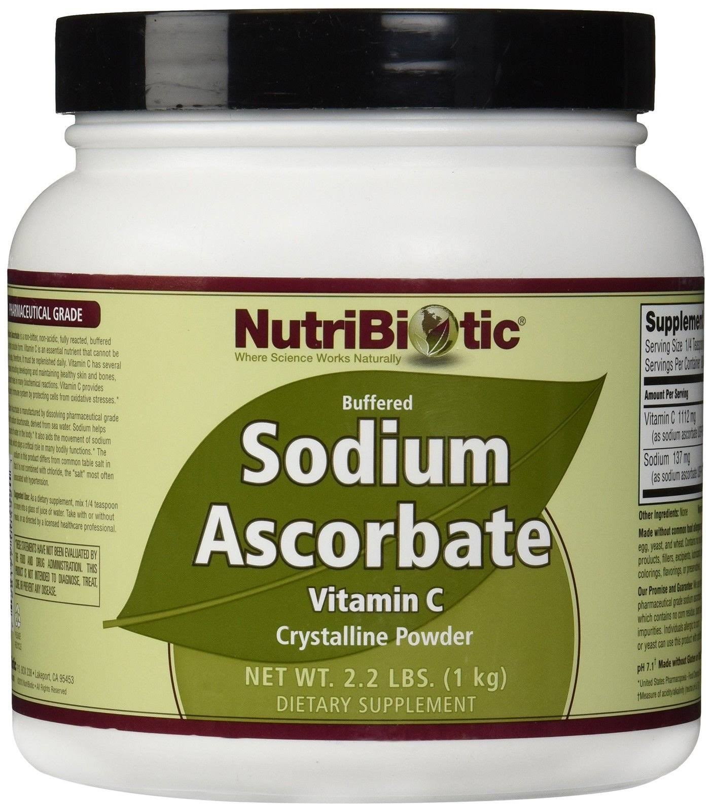 Nutribiotic Sodium Ascorbate Powder Supplement - 2.2lbs