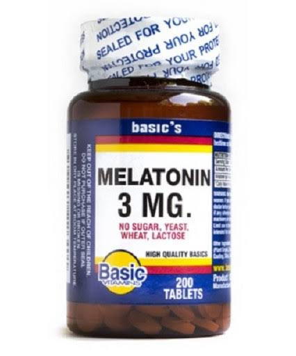 Basic Vitamins Melatonin - 200 Tablets