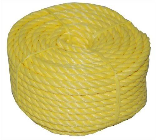 T.W . Evans Cordage 31-011 1/4-Inch by 100-Feet Twisted Yellow Polypro Rope Coilette
