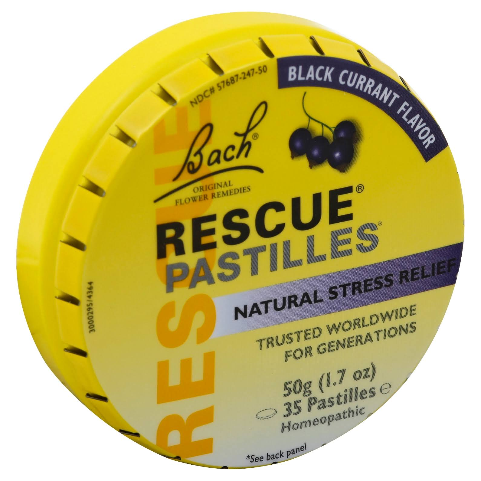 Bach Rescue Remedy Pastilles - Black Currant, 50g