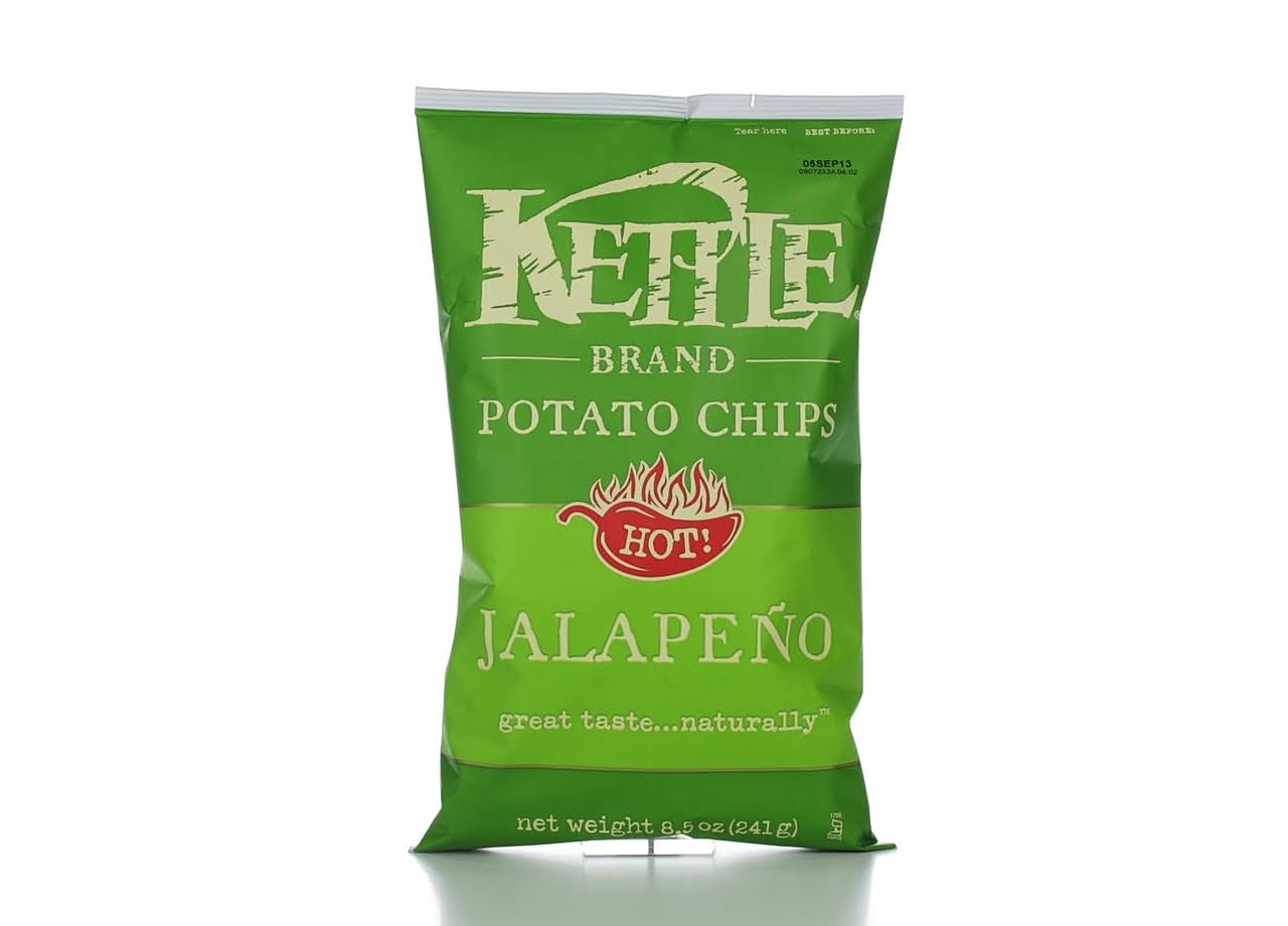 Kettle Brand Potato Chips - Hot Jalapeño, 8.5oz