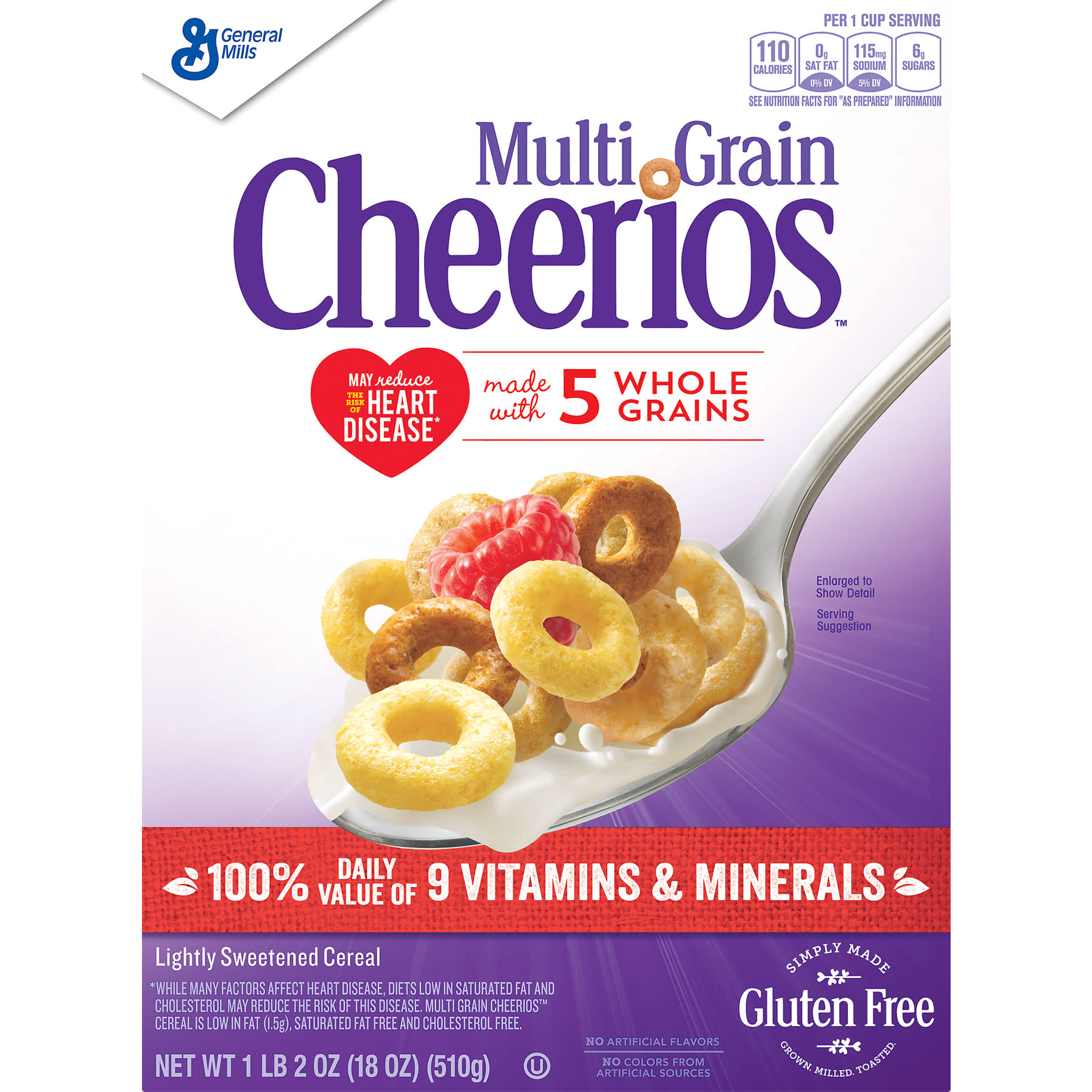 Multi Grain Cheerios Gluten Cereal - 18oz