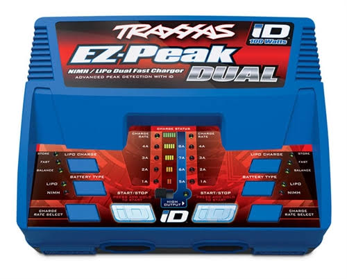 Traxxas 2972 EZ-Peak Plus NiMH LiPo Dual Charger - 100W, with iD System