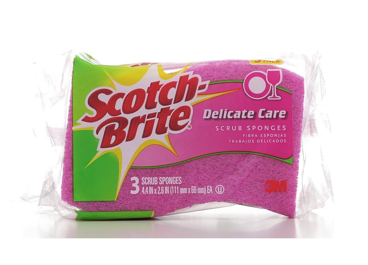 Scotch-Brite Delicate Care Scrub Sponge - 3 Pack