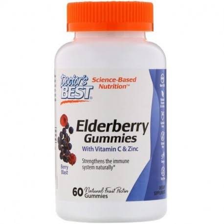 Doctor's Best Elderberry Gummies - Berry Blast, 60 Gummies