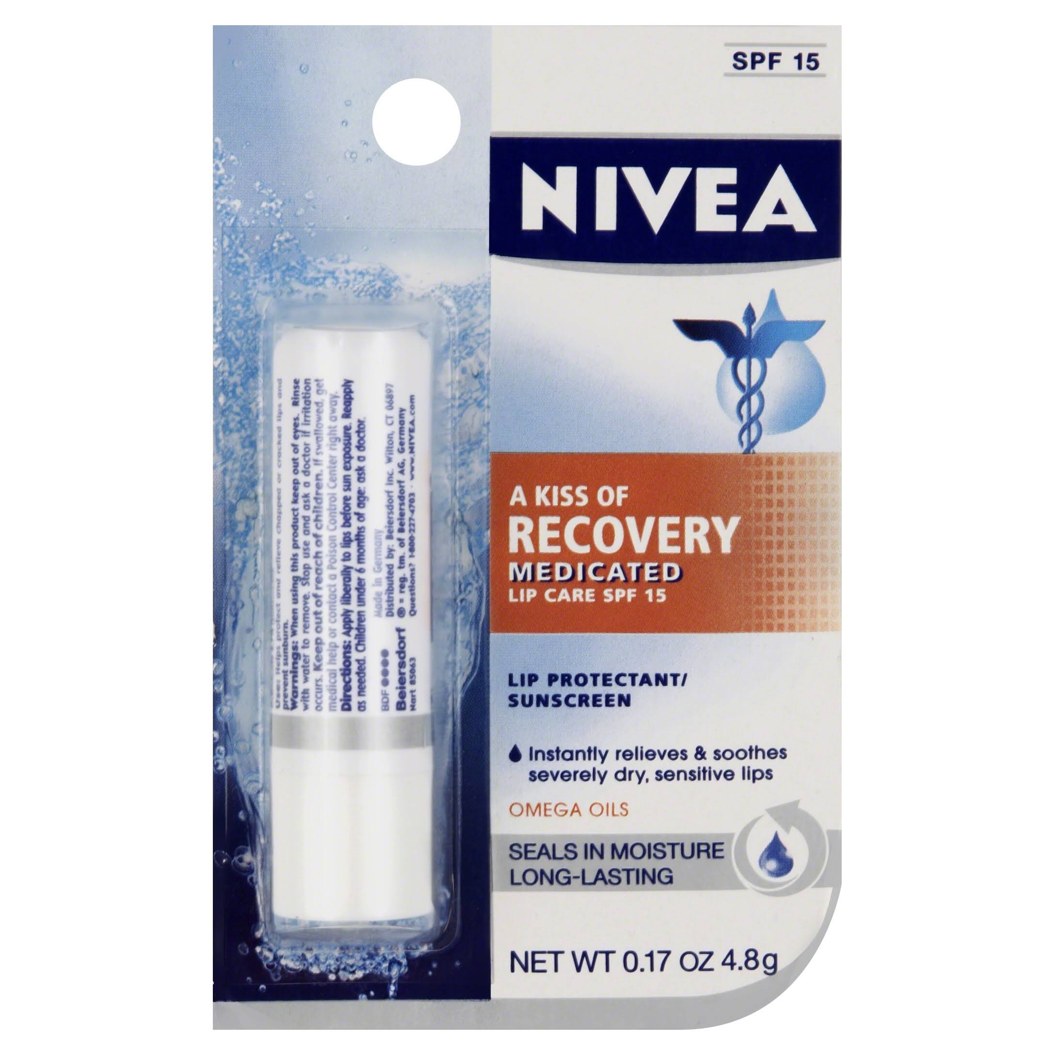 Nivea A Kiss Of Recovery Medicated Lip Care SPF 15 - 0.17oz