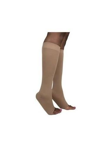 Sigvaris Open Toe Knee Highs - 20-30mmHg, Soft Opaque