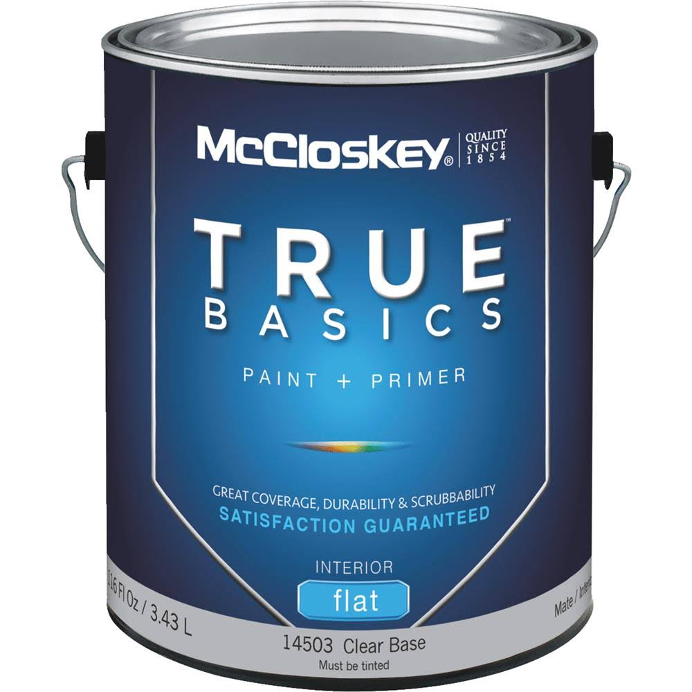 McCloskey True Basics Latex Paint and Primer - Flat Interior Wall Paint