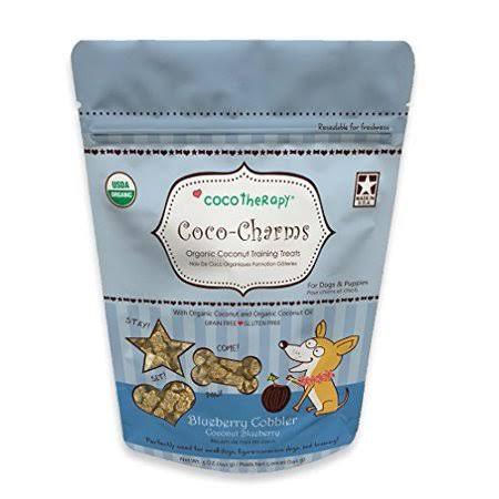 CocoTherapy Coco-Charms Training Treats 5oz, Blueberry Cobbler