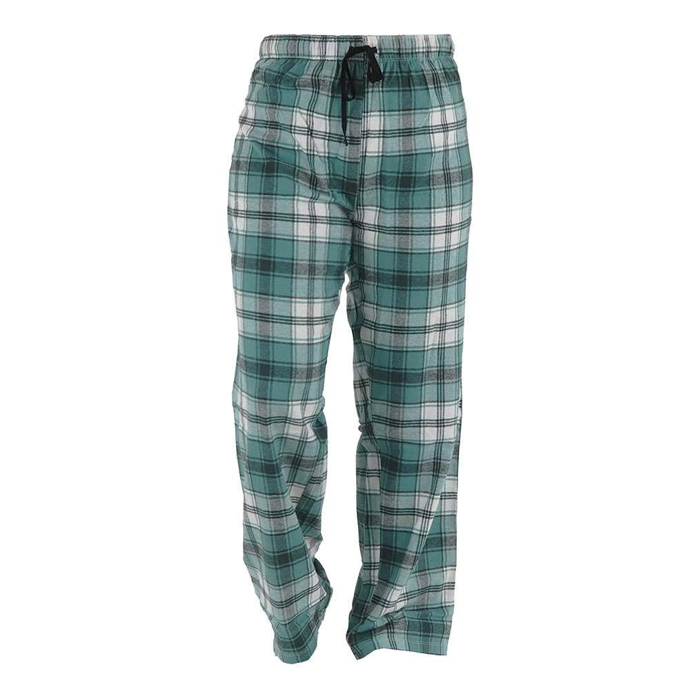 Hello Mello Flannel Lounge Pants for Women | Tartan Green Plaid Large / Green Plaid