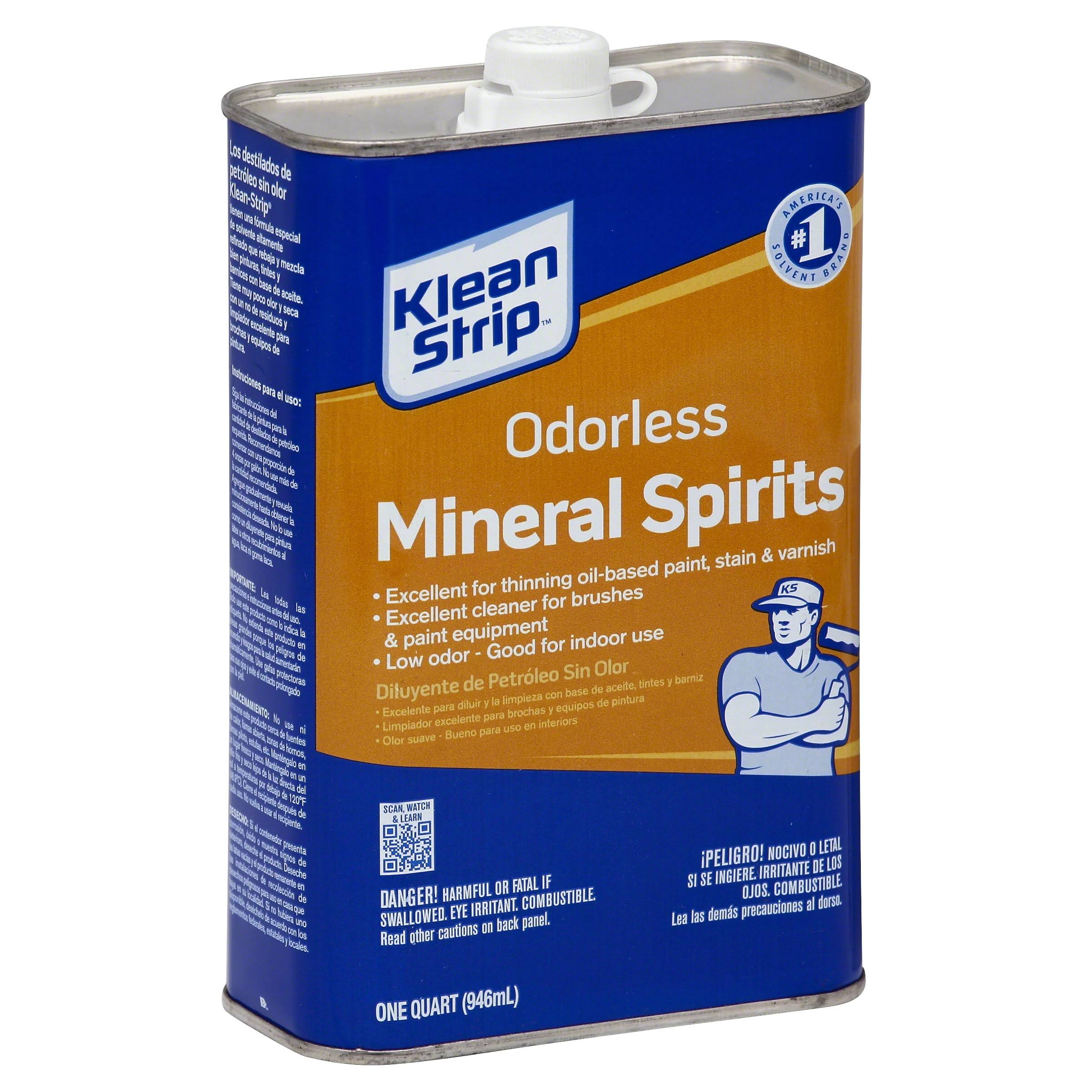 Klean-Strip Odorless Mineral Spirits Paint Thinner - 1qt