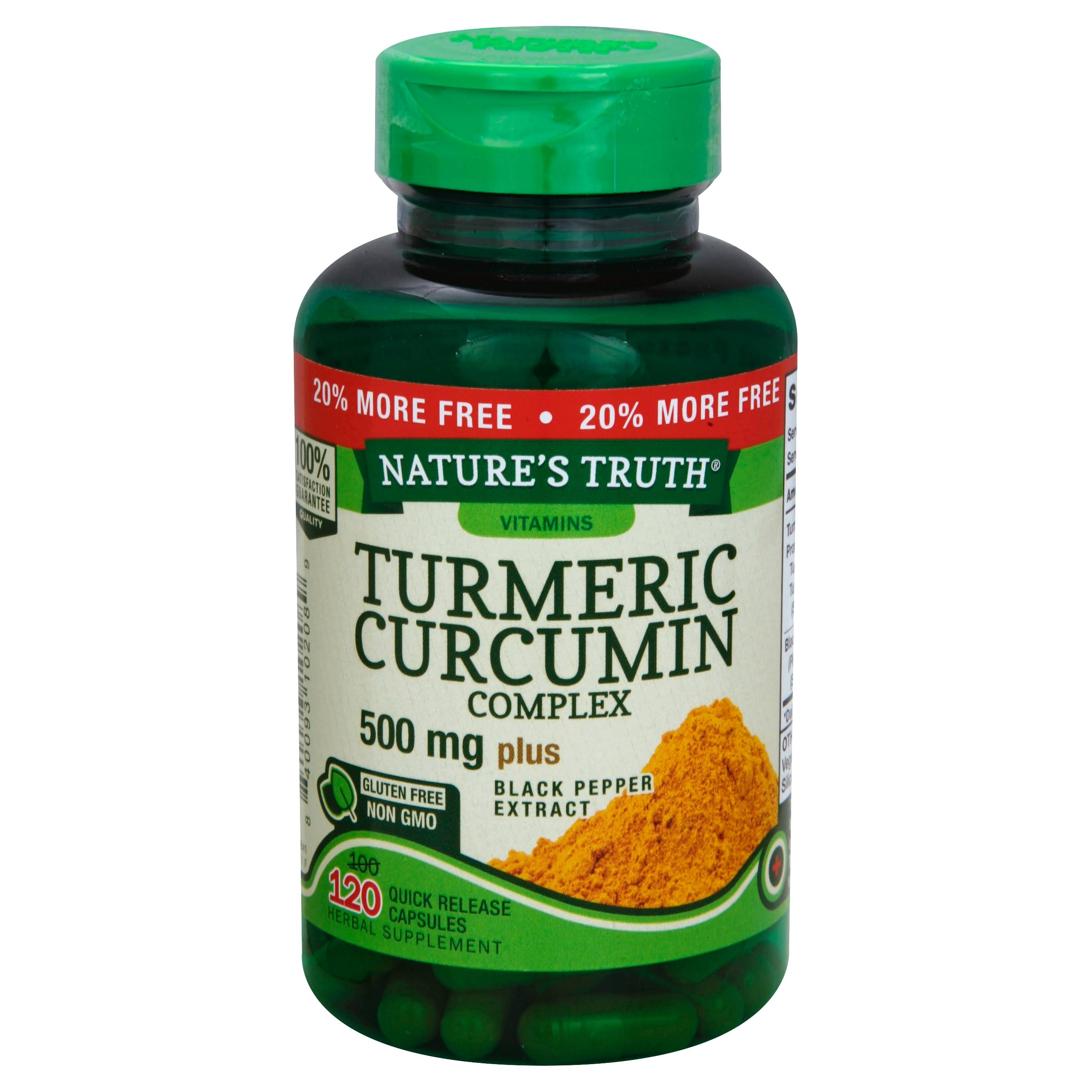 Nature's Truth Turmeric Curcumin Complex 500 mg Plus - Black Pepper Extract, 120ct