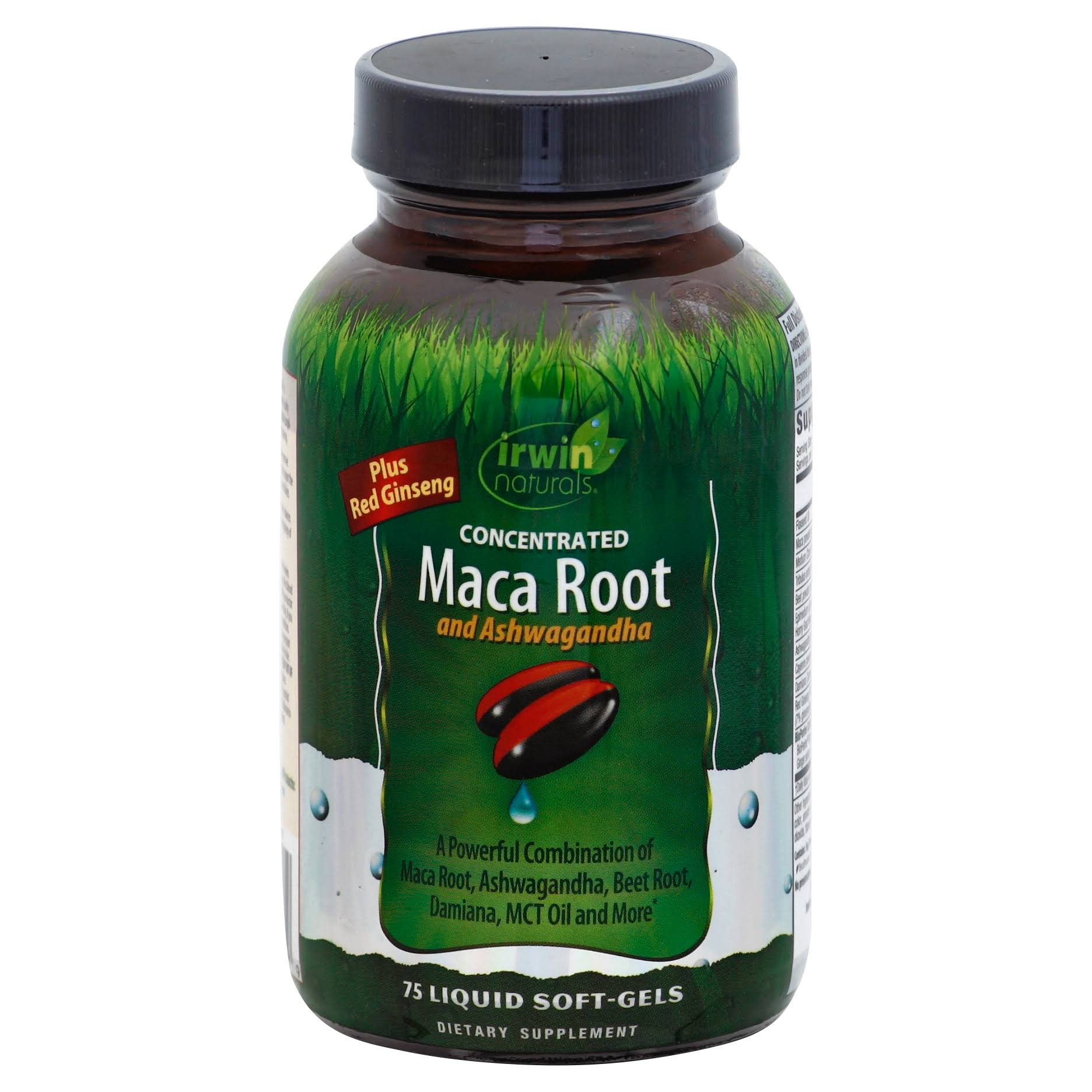 Irwin Naturals Maca Root, Concentrated, Liquid Soft-Gels - 75 soft-gels