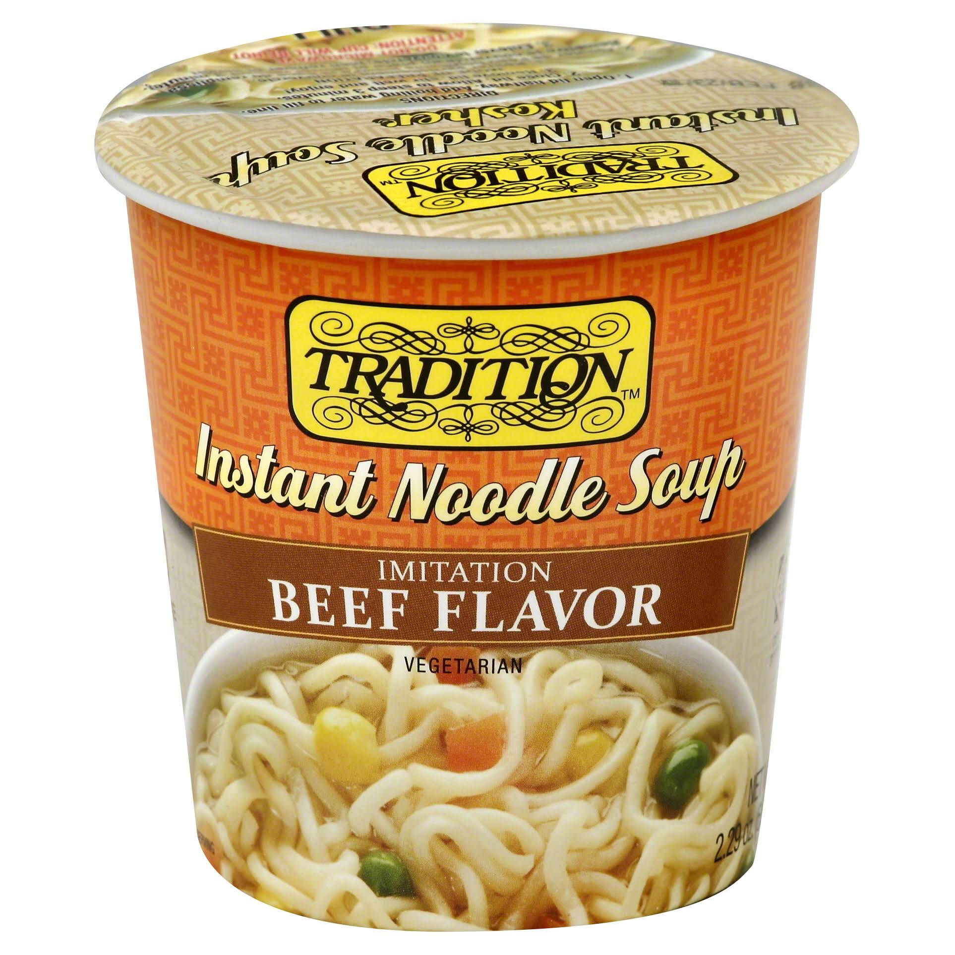 Tradition Instant Noodle Soup - Beef Flavor, 2.47oz