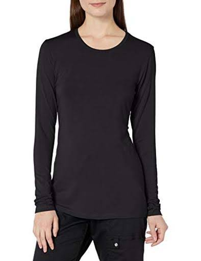 Cherokee Workwear Women's Long Sleeve Knit Tee - Black, XSmall