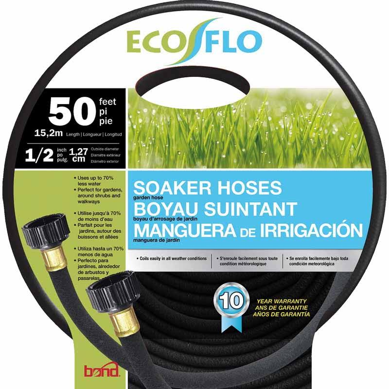 Bond Black Eco Flo Soaker Hose Garden Hose 1/2 Inx50 ft