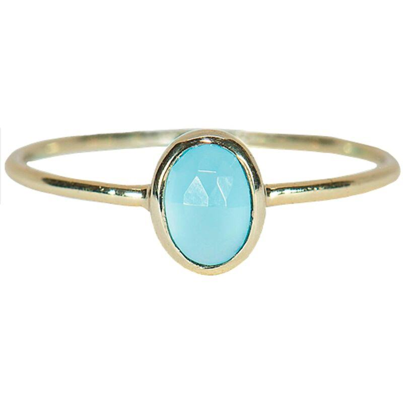 Pura Vida Chalcedony Oval Stone Ring - Metallic - Rings