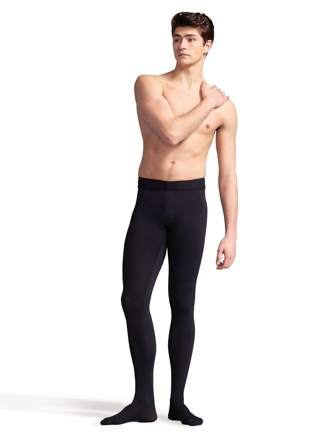 Capezio Mens Footed Tight - Black, Large