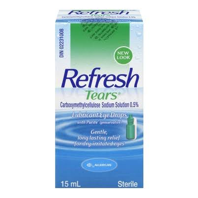 Refresh Tears Lubricant Eye Drops - 15ml