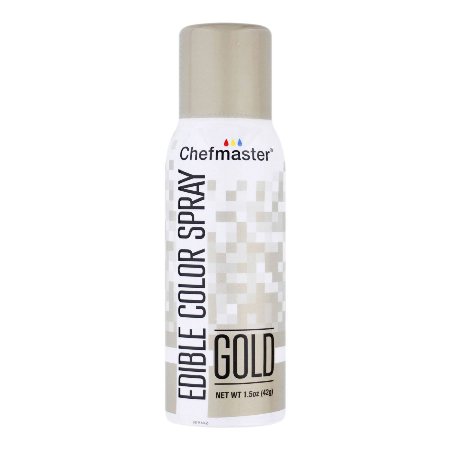 Chefmaster Edible Spray Cake Decorating Spray - Mettalic Gold, 1.5oz