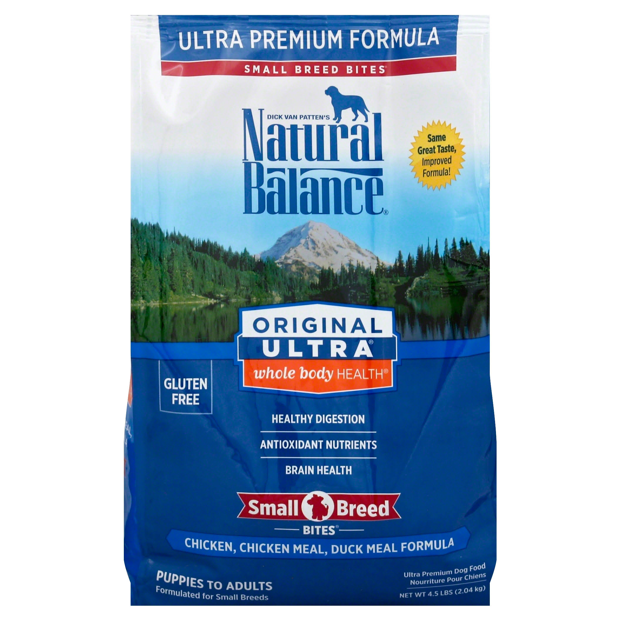 Dick Van Patten's Natural Balance Ultra Premium Dog Food - Chicken Duck Meal Formula, 4.5lb