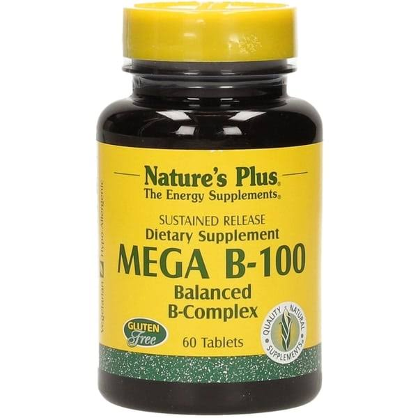 Nature's Plus Mega B 100 60 Tablets