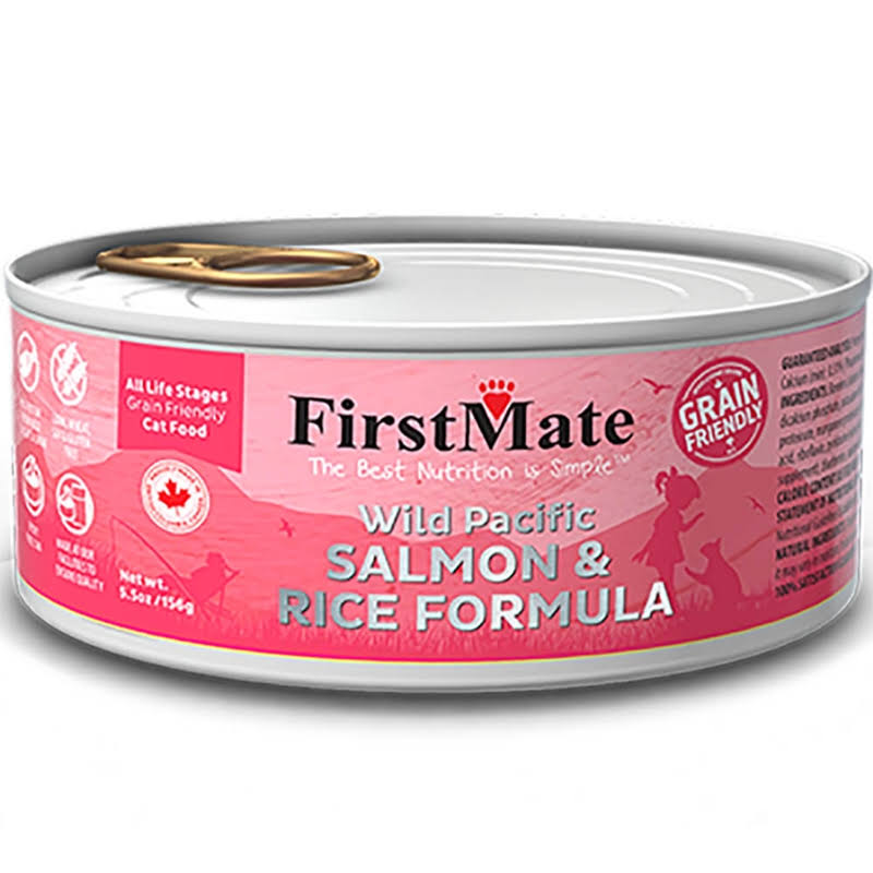 FirstMate Salmon & Rice Grain Friendly Wet Cat Food 5.5 oz