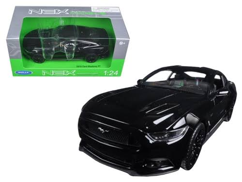 2015 Ford Mustang GT Black 1/24 Diecast Model Car by Welly