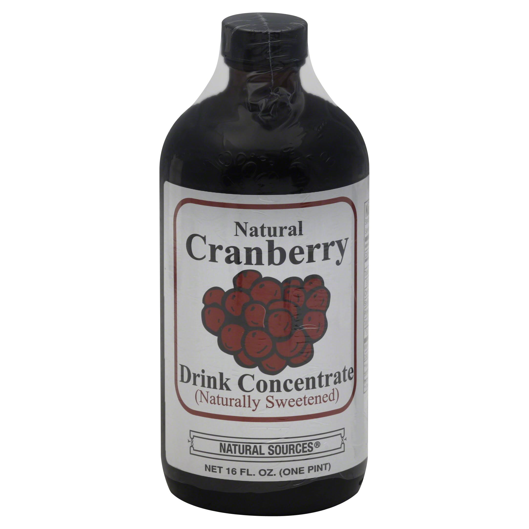 Natural Sources Drink Concentrate - Cranberry