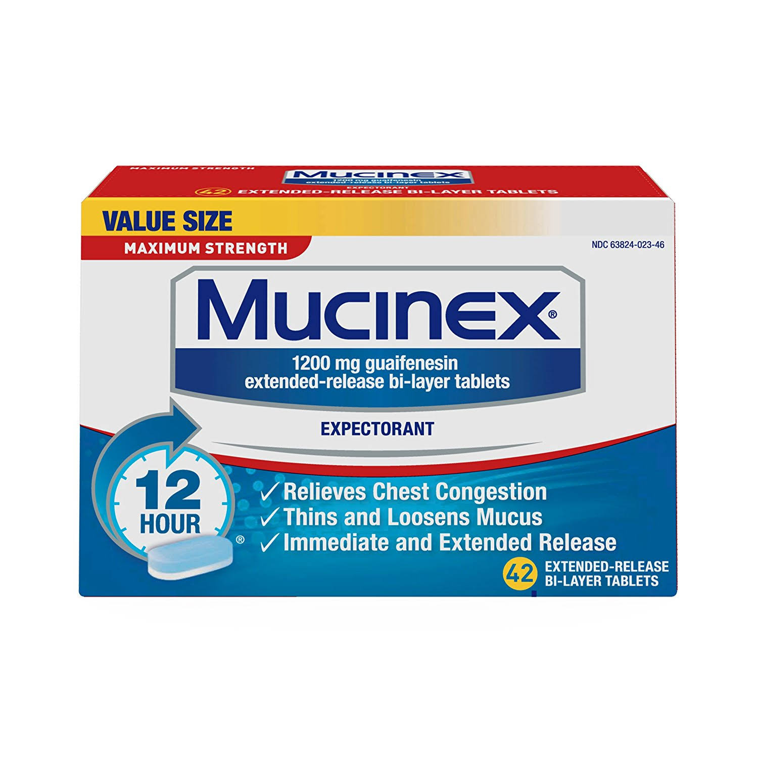 Mucinex Chest Congestion Expectorant - 42ct, Maximum Strength