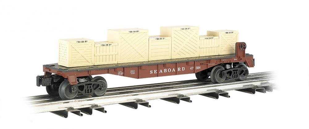 Williams By Bachmann Flat Car Model Kit - With Crates Seaboard, O Scale