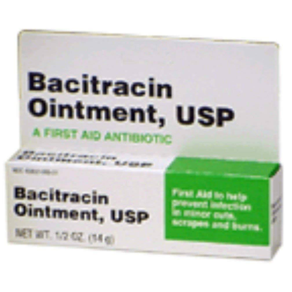 Bacitracin First aid Antibiotic Ointment USP - 1/2oz