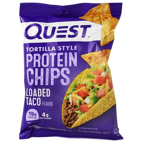 Quest Tortilla Style Protein Chips - Loaded Taco, x8