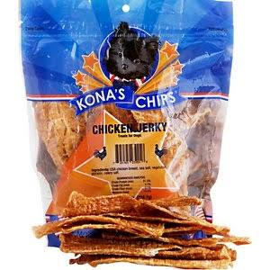 Kona's Chips - Chicken Jerky - Dog Treats - 8 oz Bag