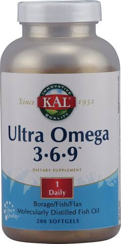 Kal Ultra Omega 3-6-9 Dietary Supplement - 200 Softgels