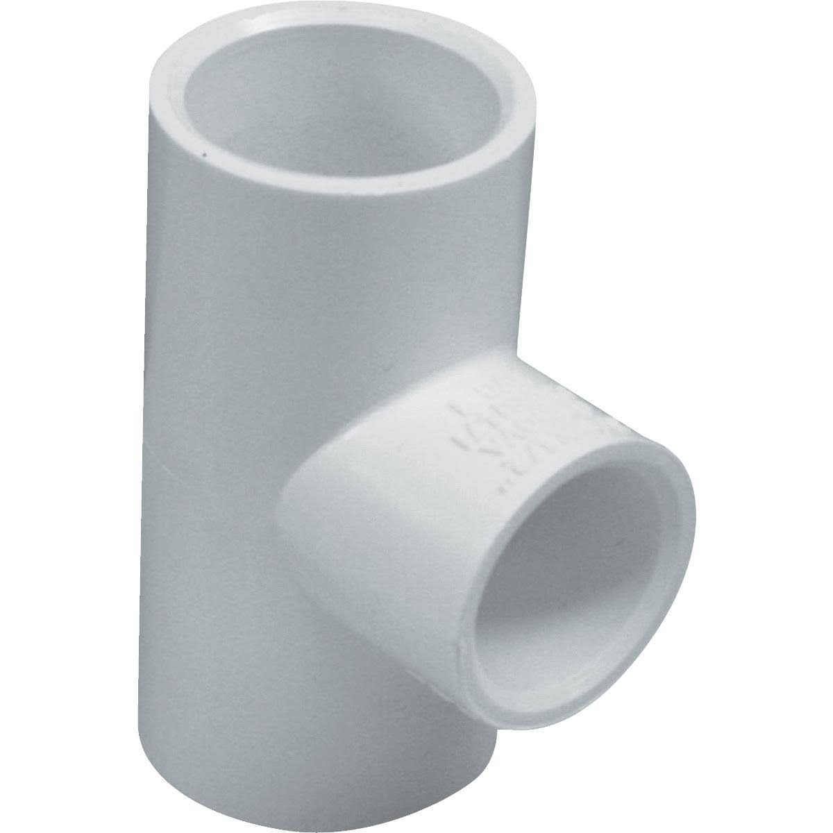 "Genova Products PVC Reducing Tee - 1"" x 3/4"""