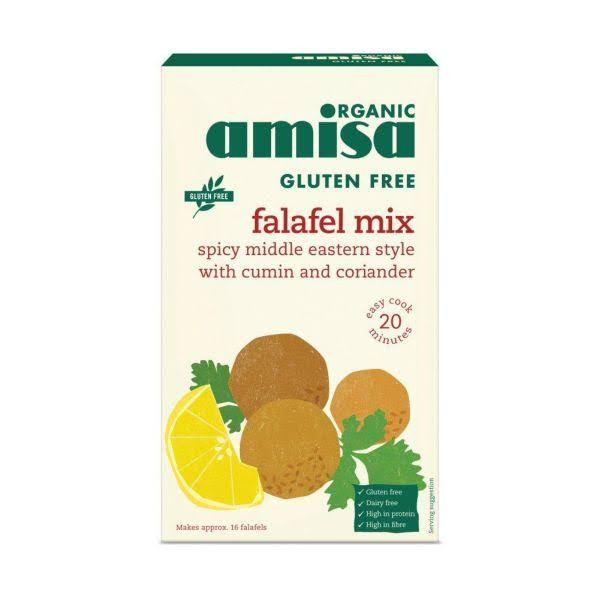 Amisa Organic Falafel Mix - Spicy Middle Eastern Style, Cumin and Coriander, 160g