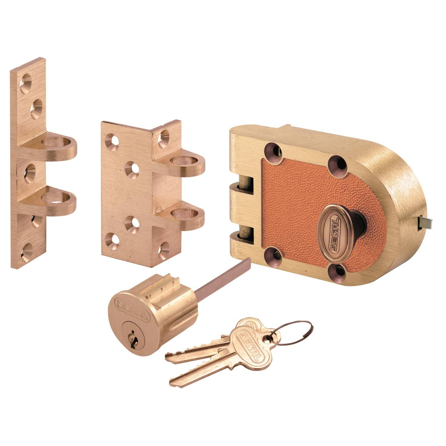 Prime-Line Single Cylinder Solid Bronze Jimmy-Proof Deadbolt