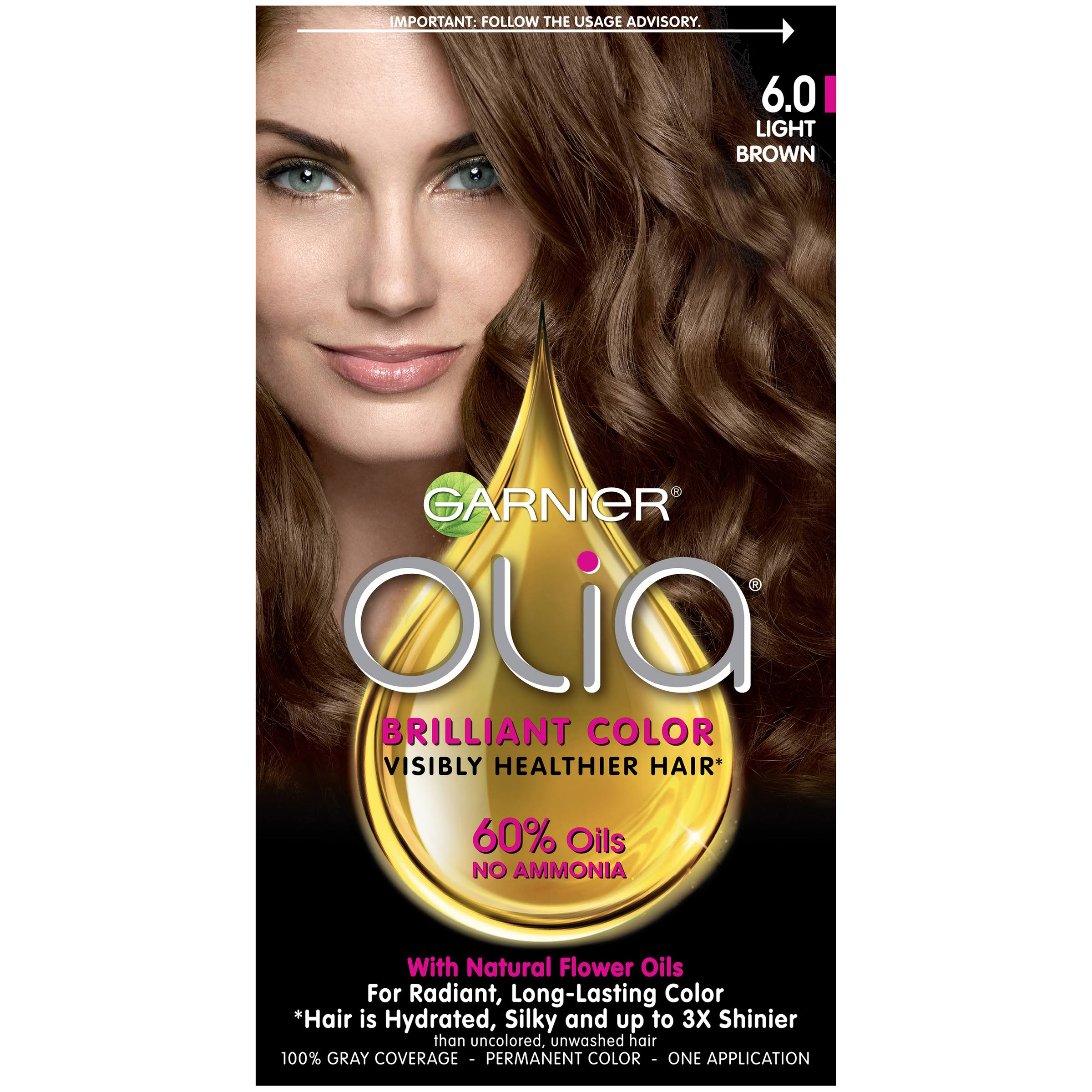 Garnier Olia Oil Powered Permanent Color - 6.0 Light Brown