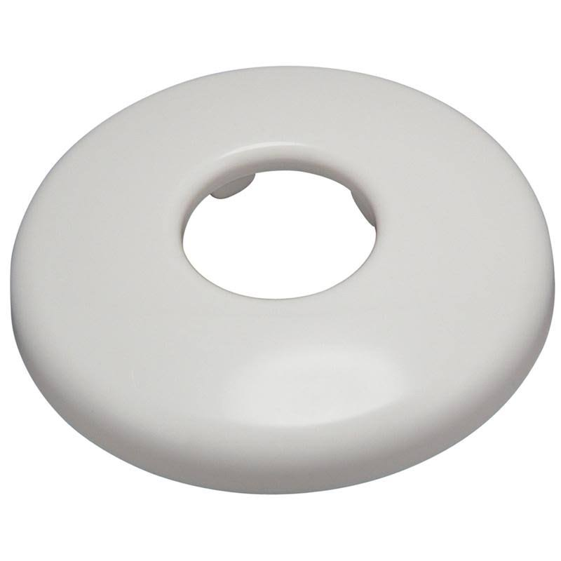Plumb Pak Shallow Slip-On Bath Plastic Flange - White, 1.3cm
