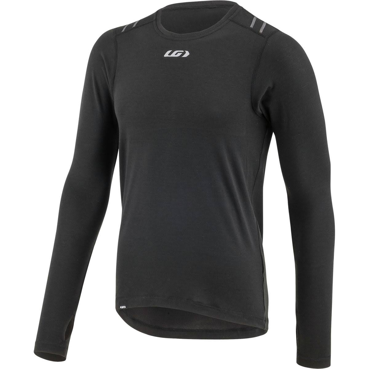 Louis Garneau 2004 LS Men's Base Layer Top: Black - MD